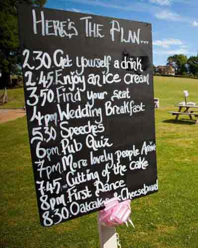 Helping to plan your wedding